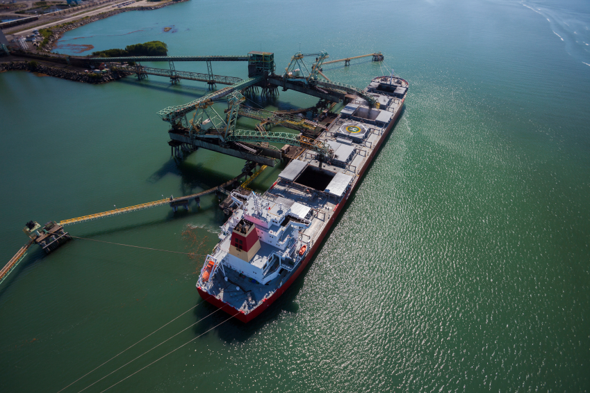 Large cargo ship being loaded with coal at the Ridley Island Terminal in British Columbia, Canada. [image: istockphoto.com]